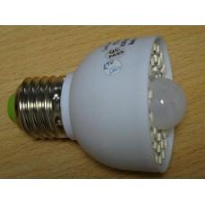 Лампа светодиодная с инфракрасным датчиком  E27 3Вт