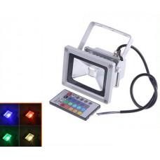 Светодиодный прожектор RGB 10Вт + пульт ДУ