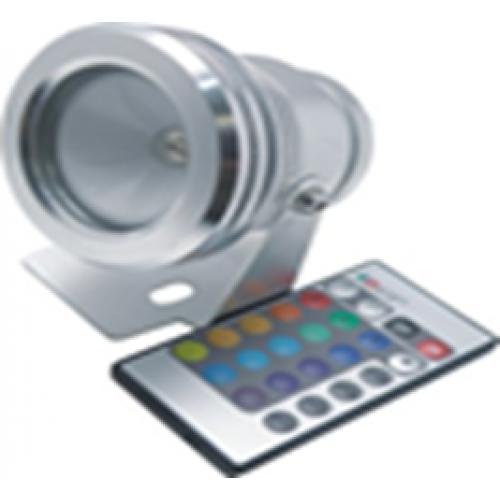 Светодиодный прожектор круглый RGB 10Вт + пульт ДУ